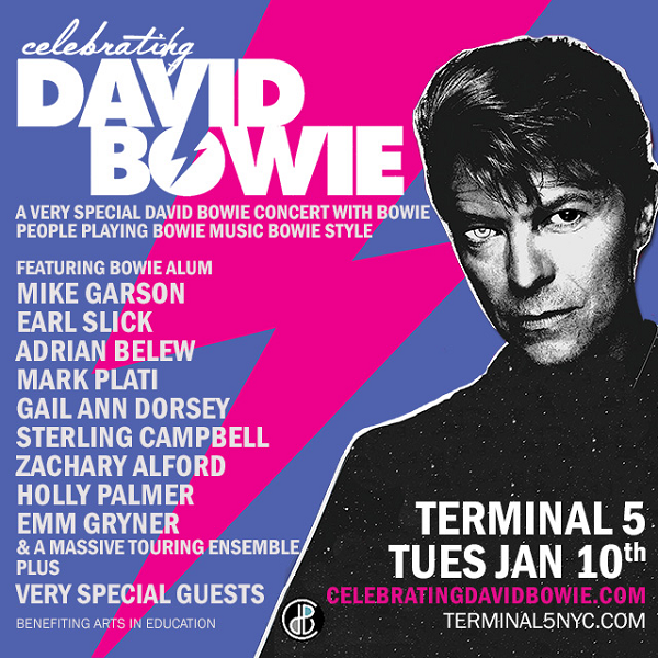 DAVID BOWIE concert NY tuesday 10 jan